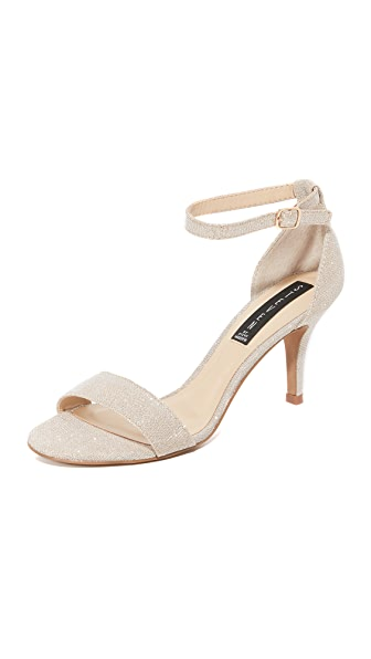 Steven Vienna Metallic Sandals - Platinum