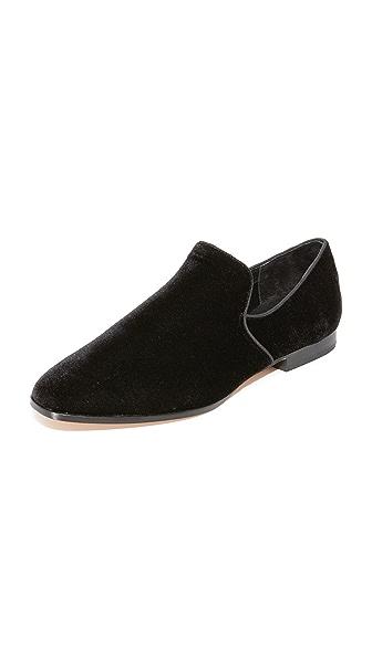 Steven Adrianna Velvet Loafers - Black Velvet