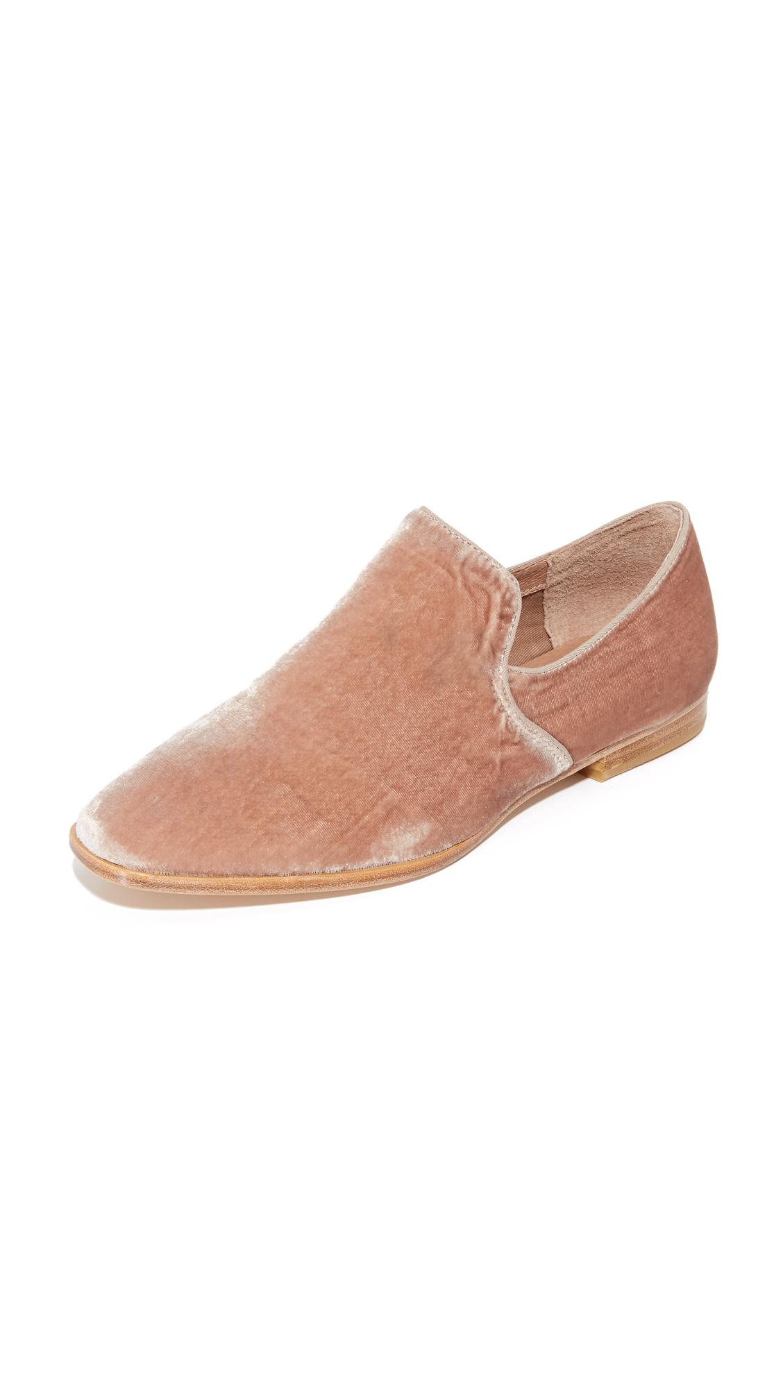 steven female steven adrianna velvet loafers blush velvet