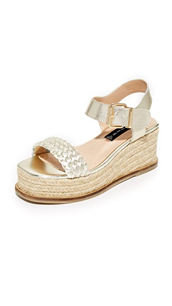 Steven Sabble Flatform Sandals - Gold