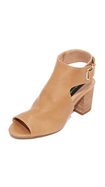Steven Venuz Peep Toe Sandals - Tan