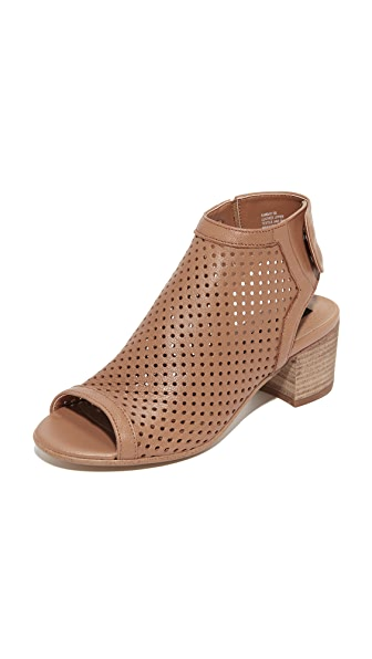 Steven Sambar Peep Toe Booties - Tan