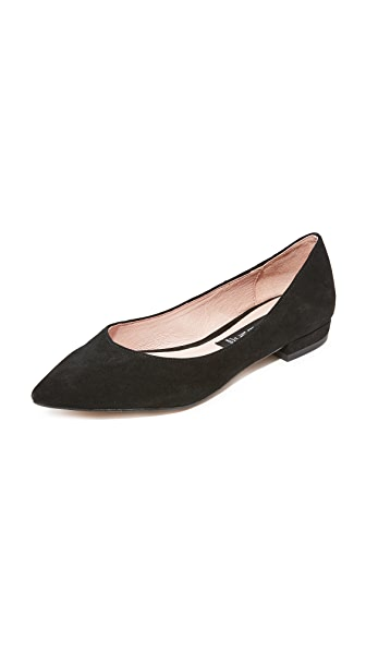 Steven Lavender Flats In Black