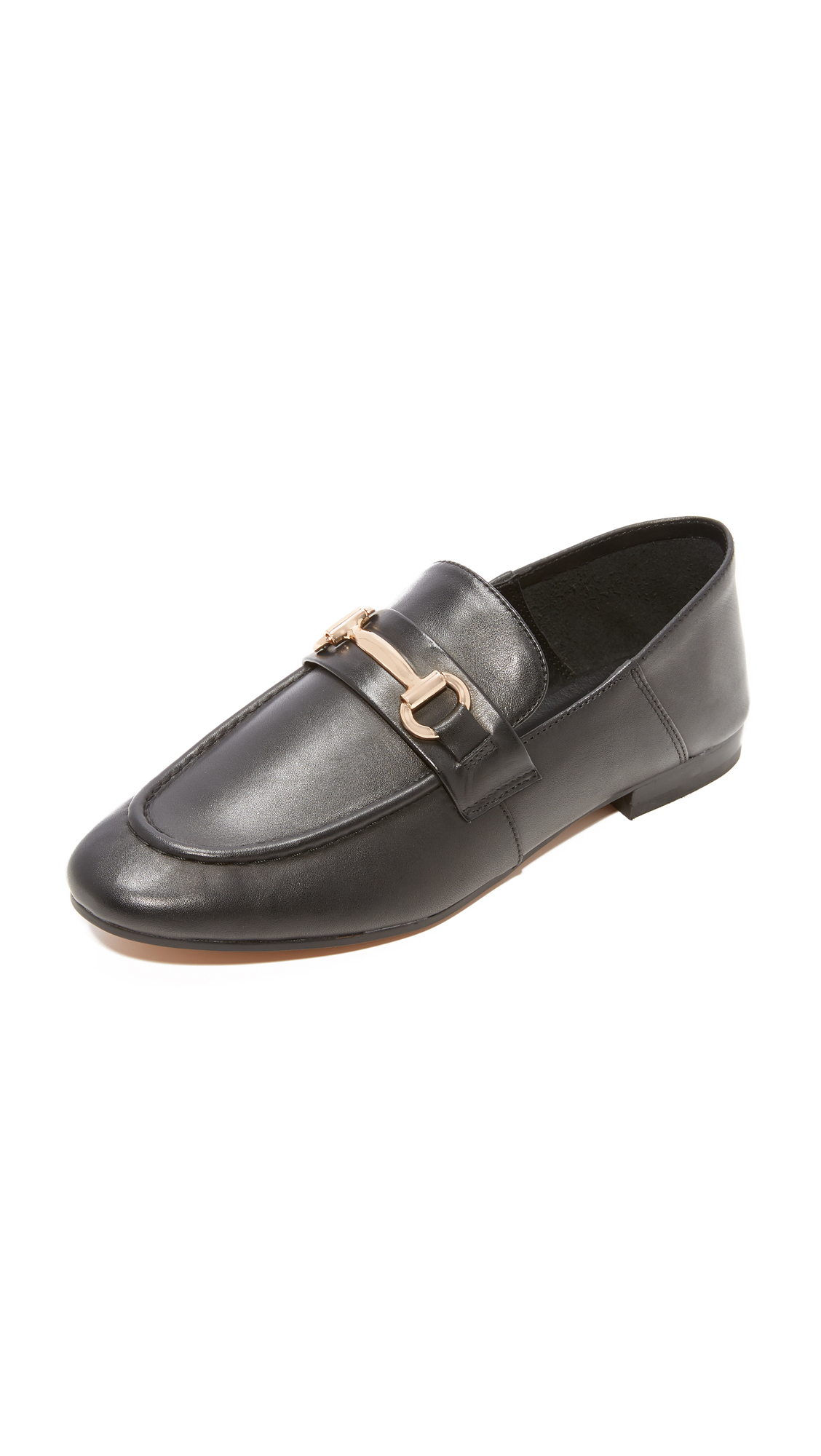 Steven Santana Step Down Loafers - Black