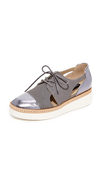 Steven Pippar Cutout Oxfords - Grey