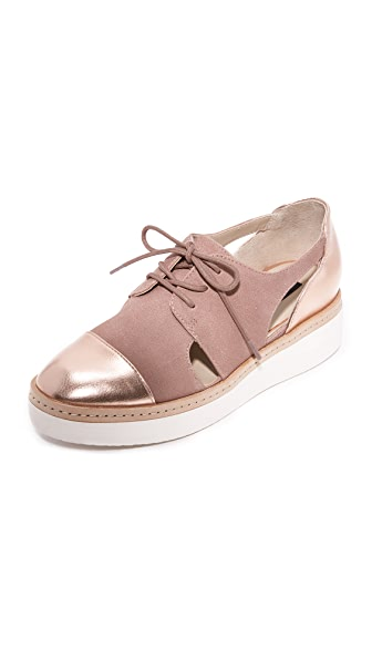 Steven Pippar Cutout Oxfords - Blush Multi