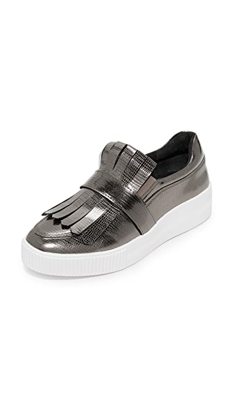Steven Annalee Platform Slip On Sneakers - Pewter
