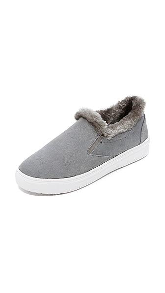 Steven Cuddles Faux Fur Sneakers - Grey