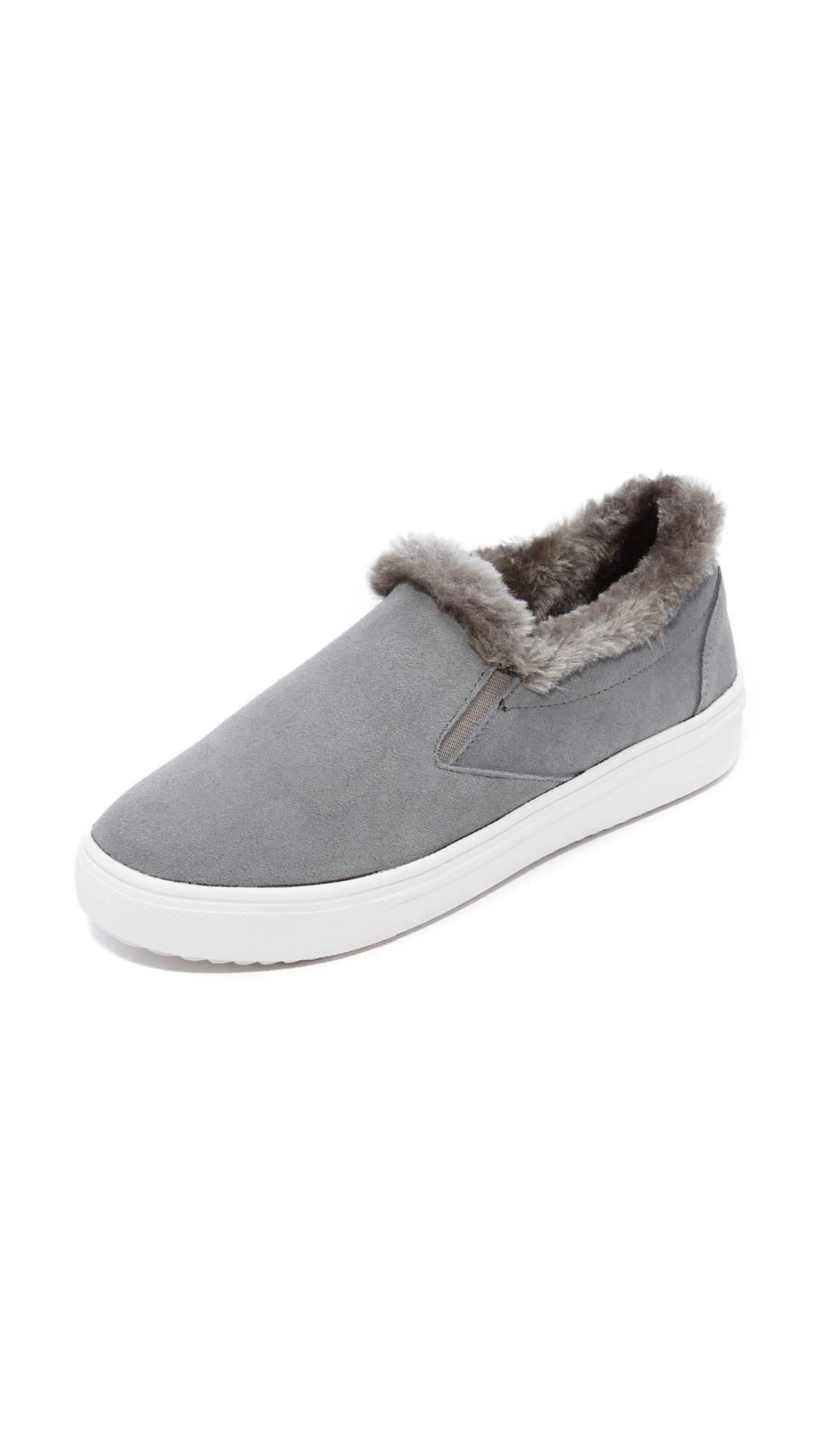 Steven Cuddles Faux Fur Sneakers - Grey