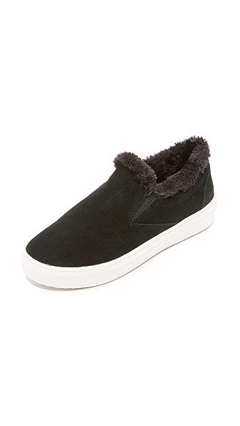 Steven Cuddles Faux Fur Sneakers In Black