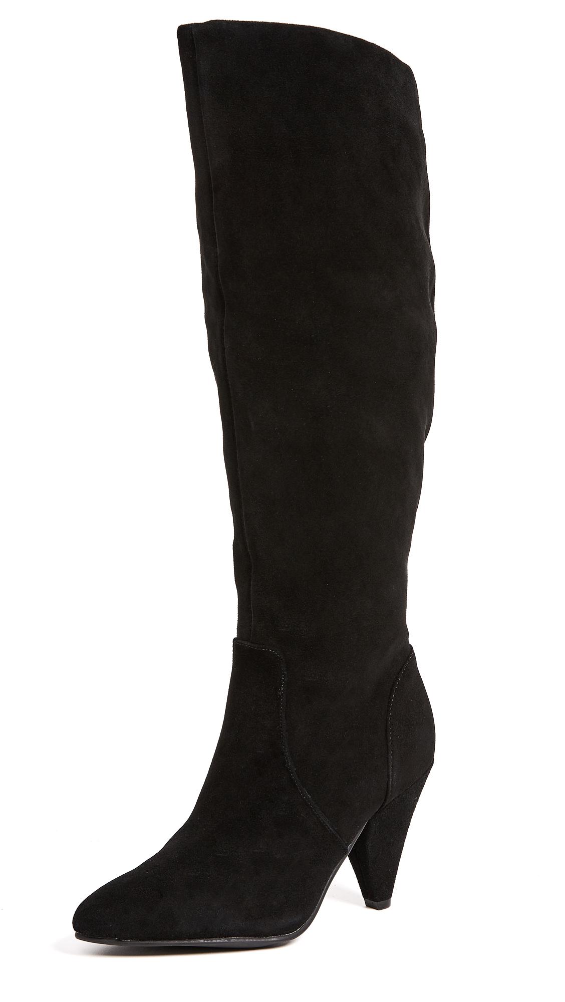 Steven Vergil Slouch Boots - Black