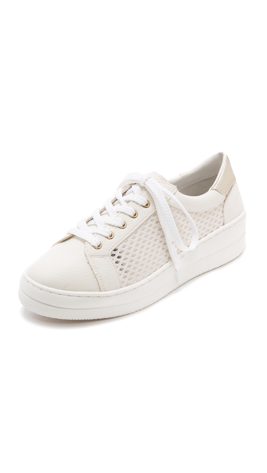Steven Nyssa Lace Up Sneakers - White Multi
