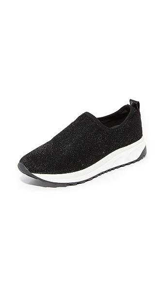 Steven NC Slate Sneakers In Black Glitter