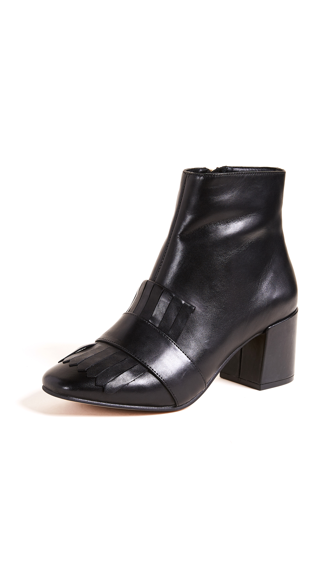 Steven Serlina Block Heel Boots - Black