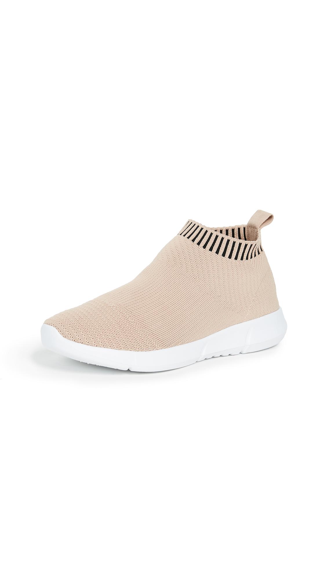 Steven Fabs Knit Jogger Sneakers - Blush
