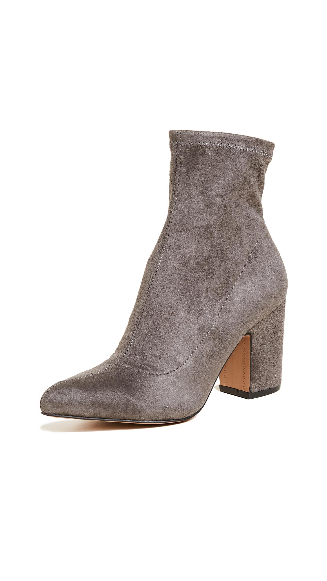 Steven Lieve Block Heel Ankle Booties - Grey