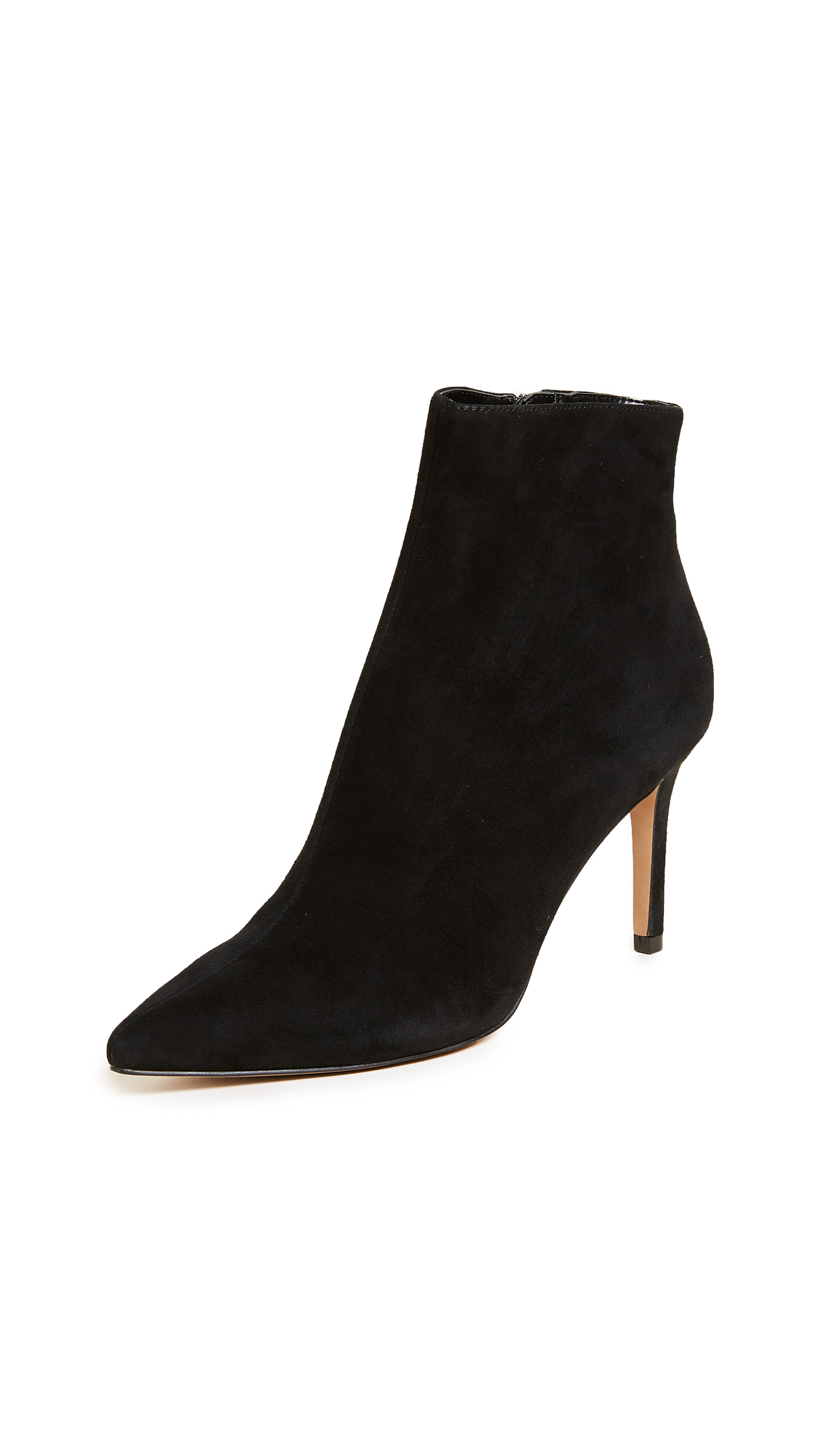 Steven Logic Point Toe Ankle Boots - Black