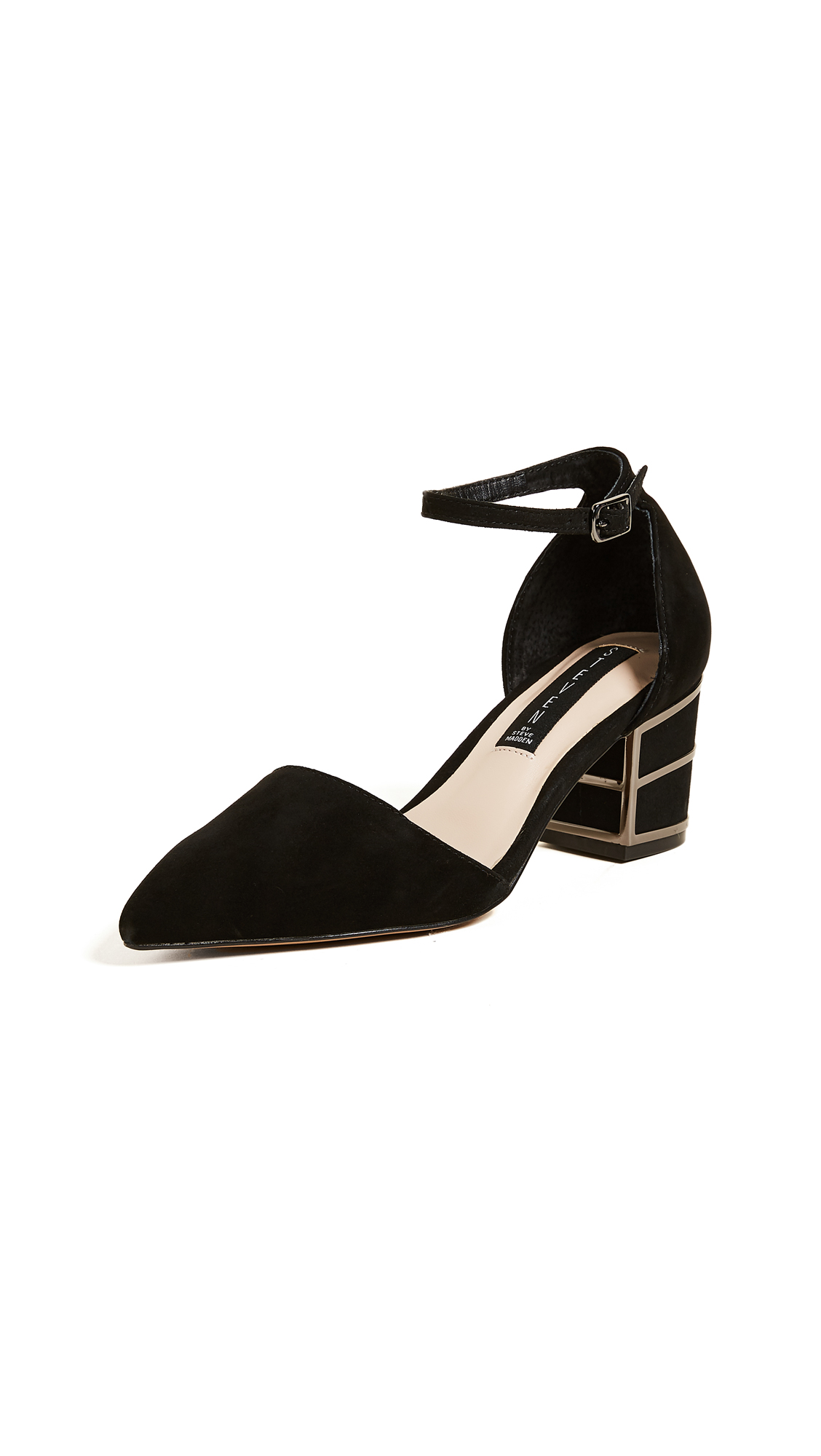 Steven Bea Ankle Strap Pumps - Black