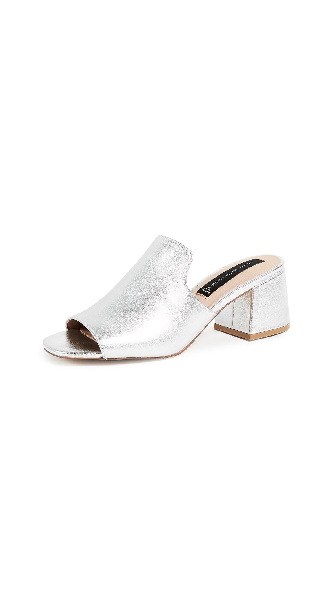 Steven Waze Block Heel Sandals - Silver