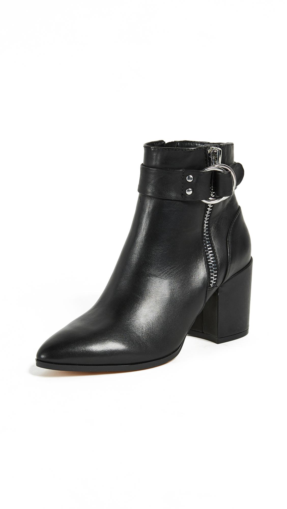 Steven Johanna Block Heel Ankle Boots - Black