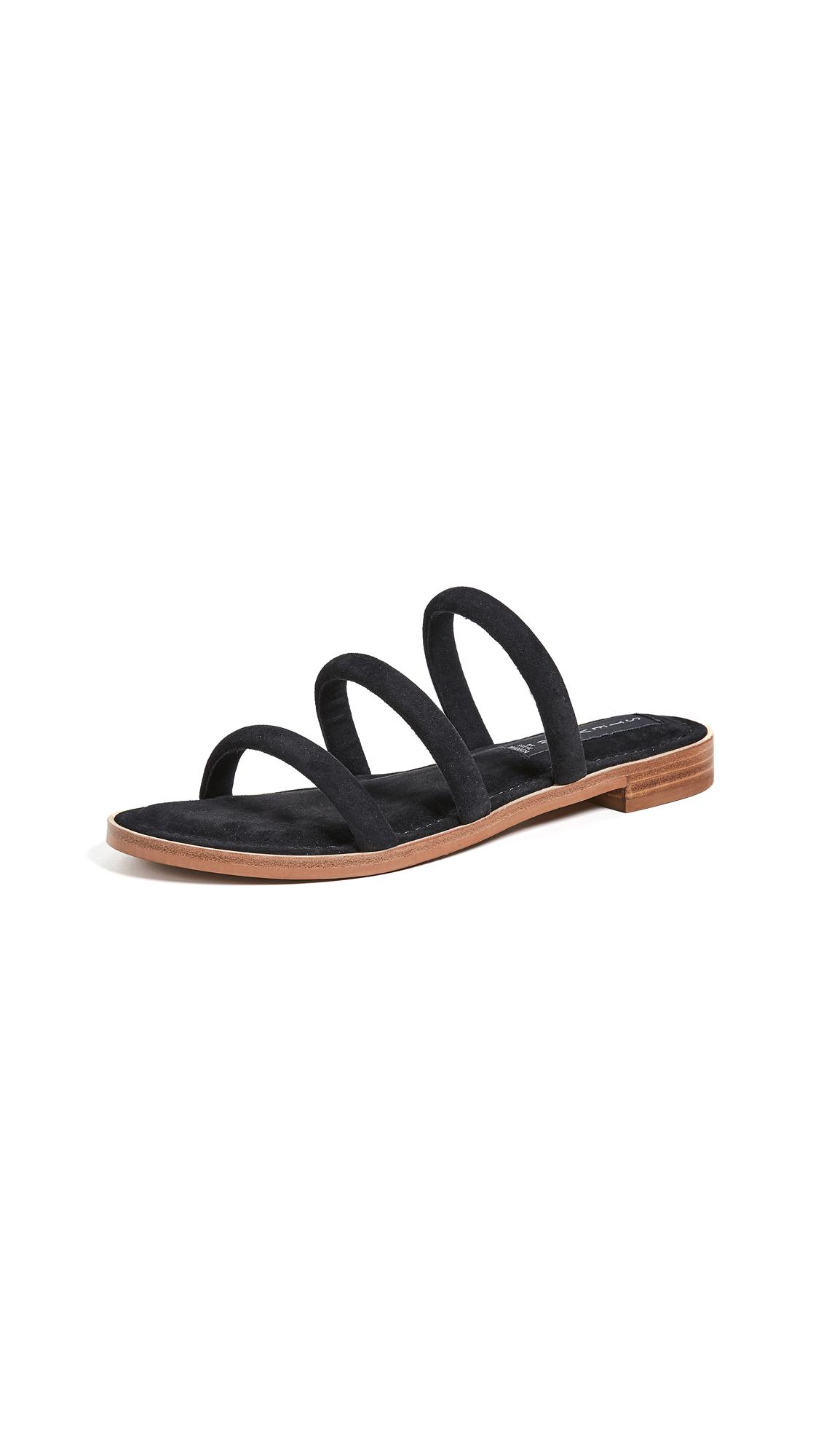 Steven Cocoa Tubular Sandals - Black