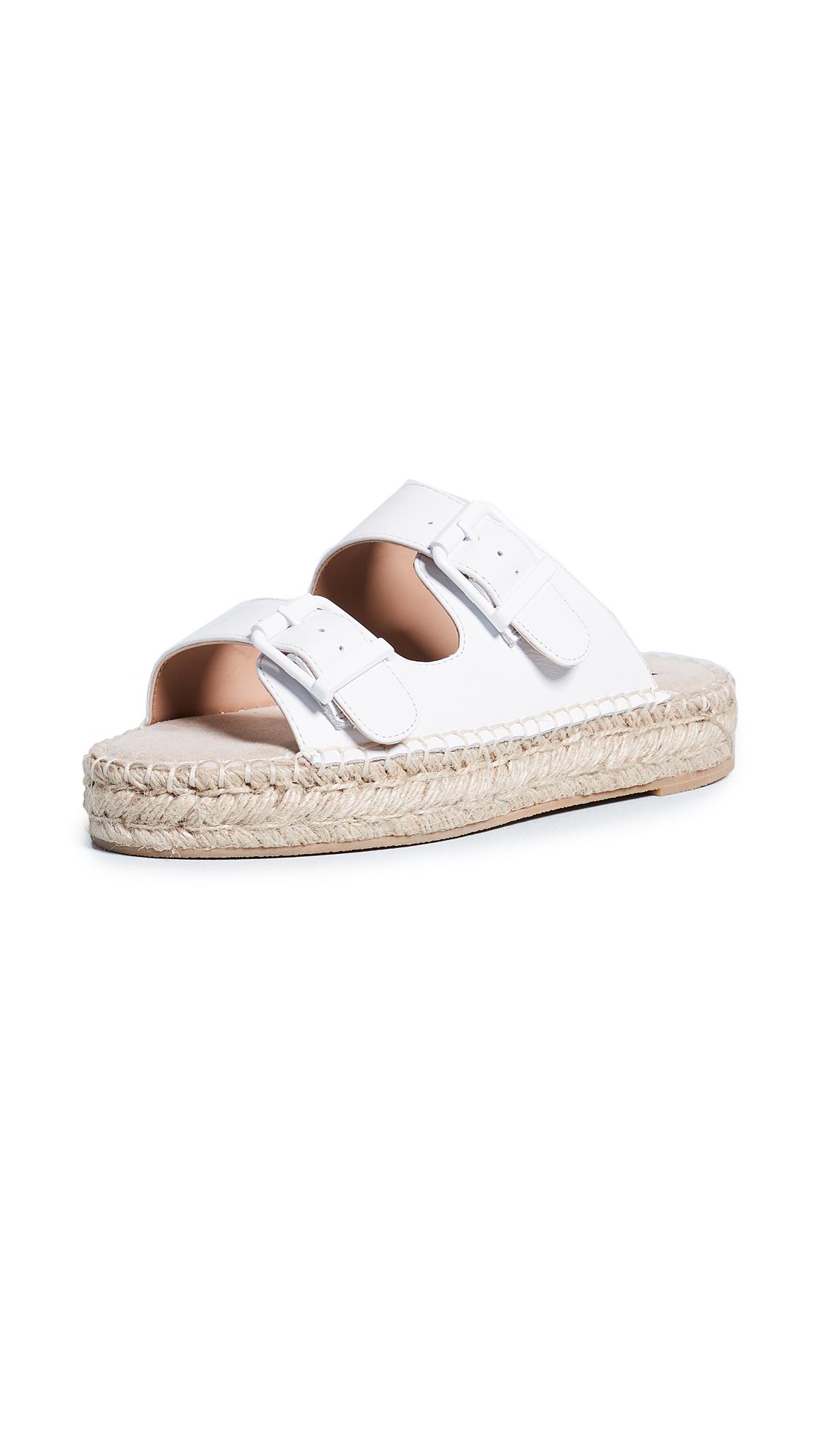 Steven Lapis Espadrille Sandals - White