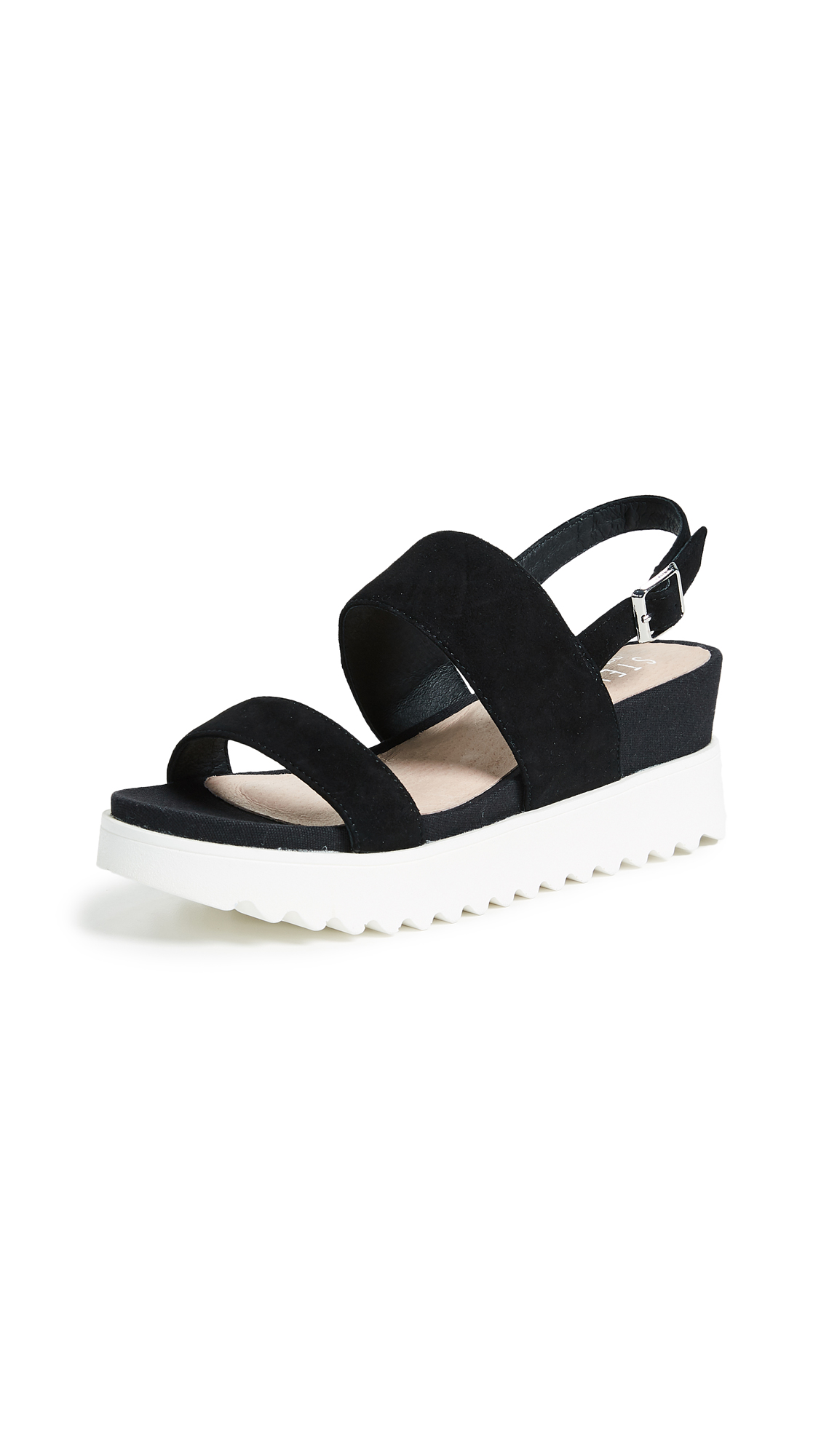 Steven Khaos Platform Sandals - Black
