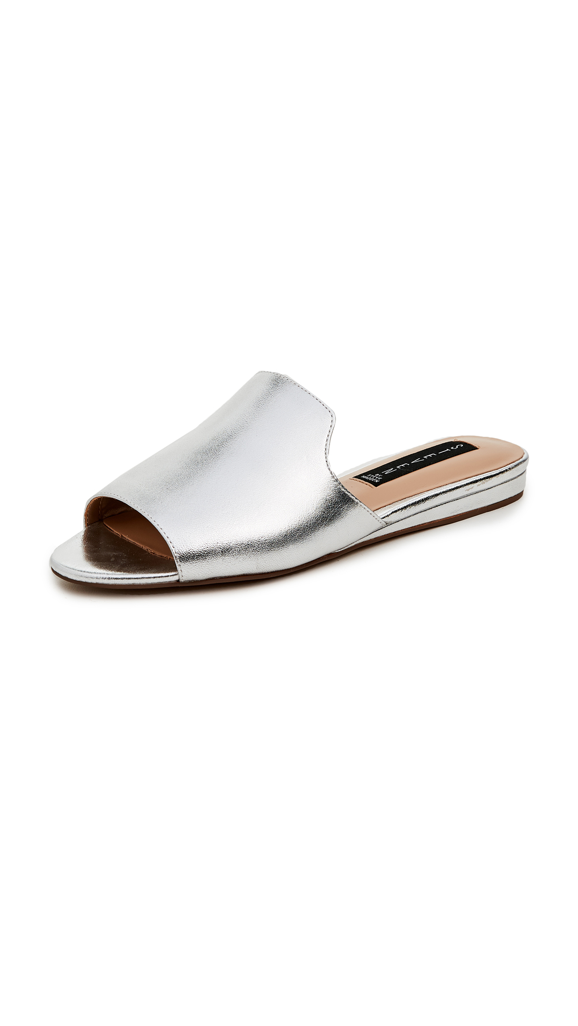 Steven Sensai Peep Toe Sandals - Silver