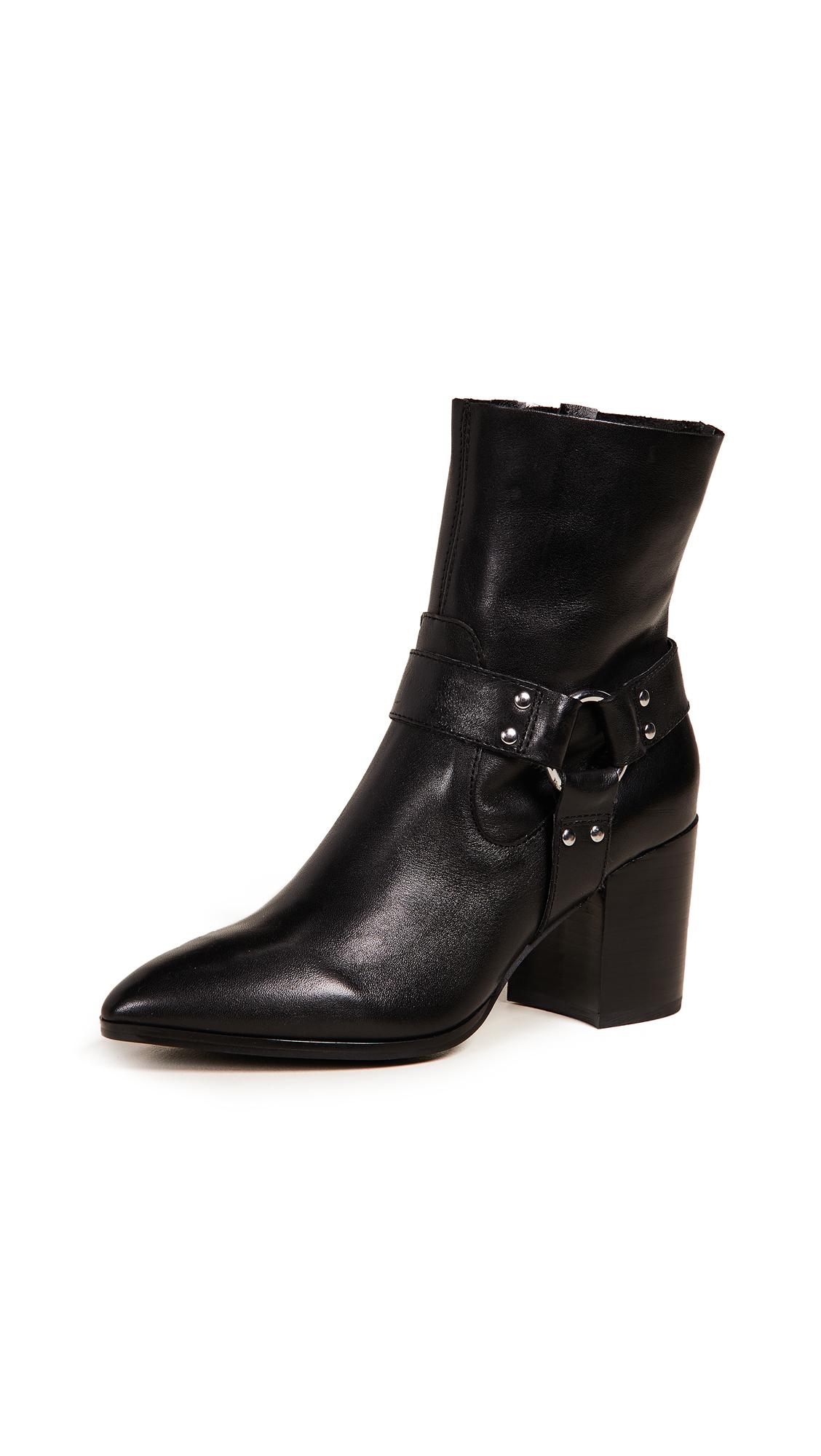 Steven Jiffie Block Heel Booties - Black