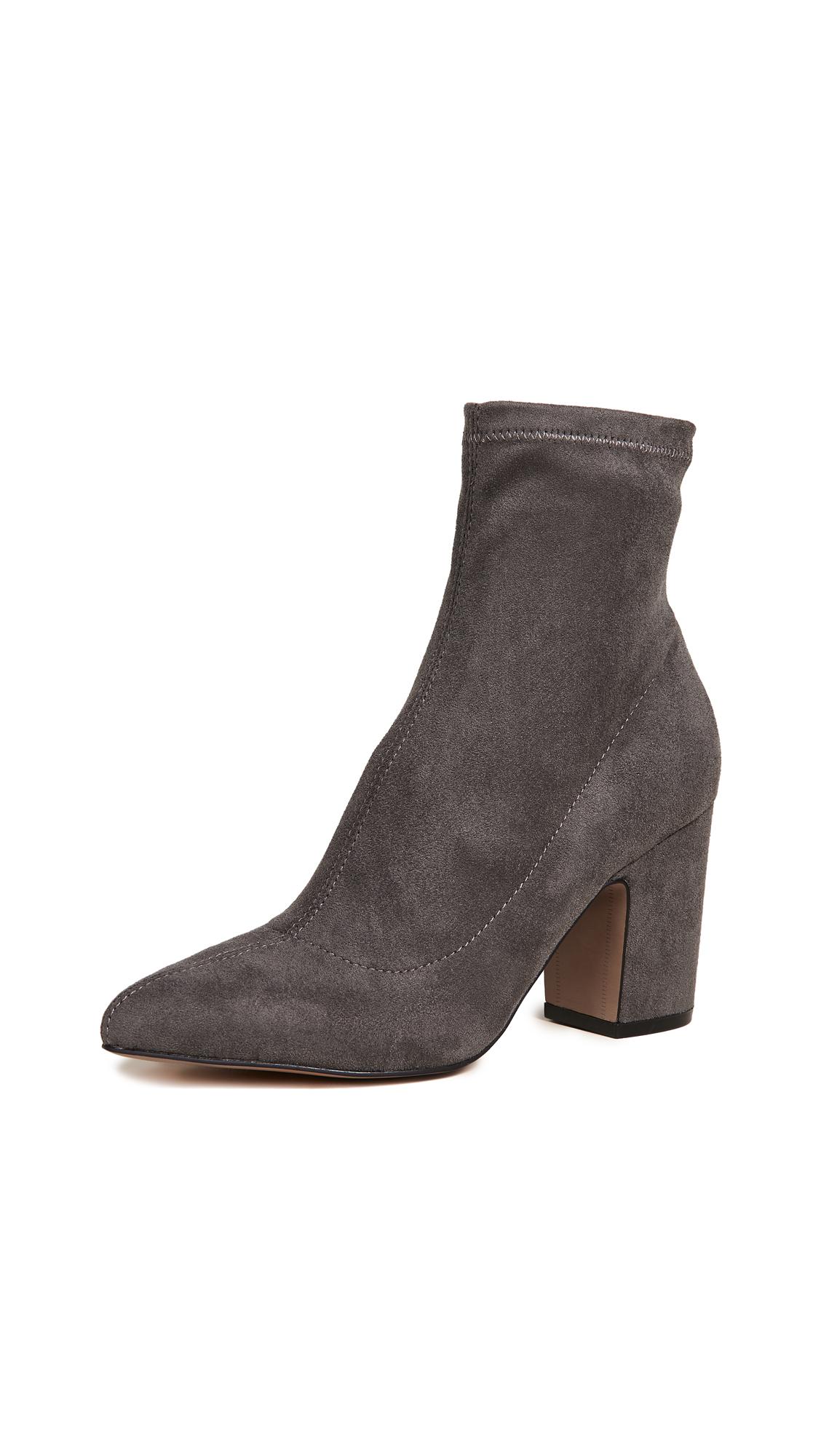 Steven Leandra Block Heel Ankle Booties - Grey