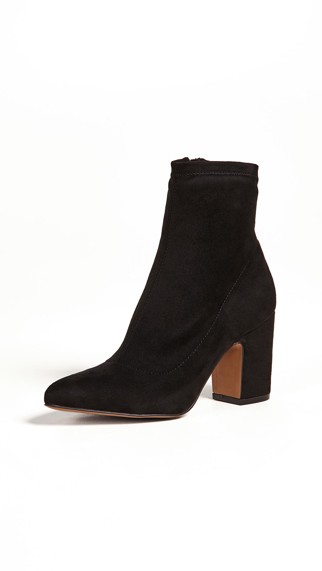 STEVEN Leandra Block Heel Ankle Booties in Black