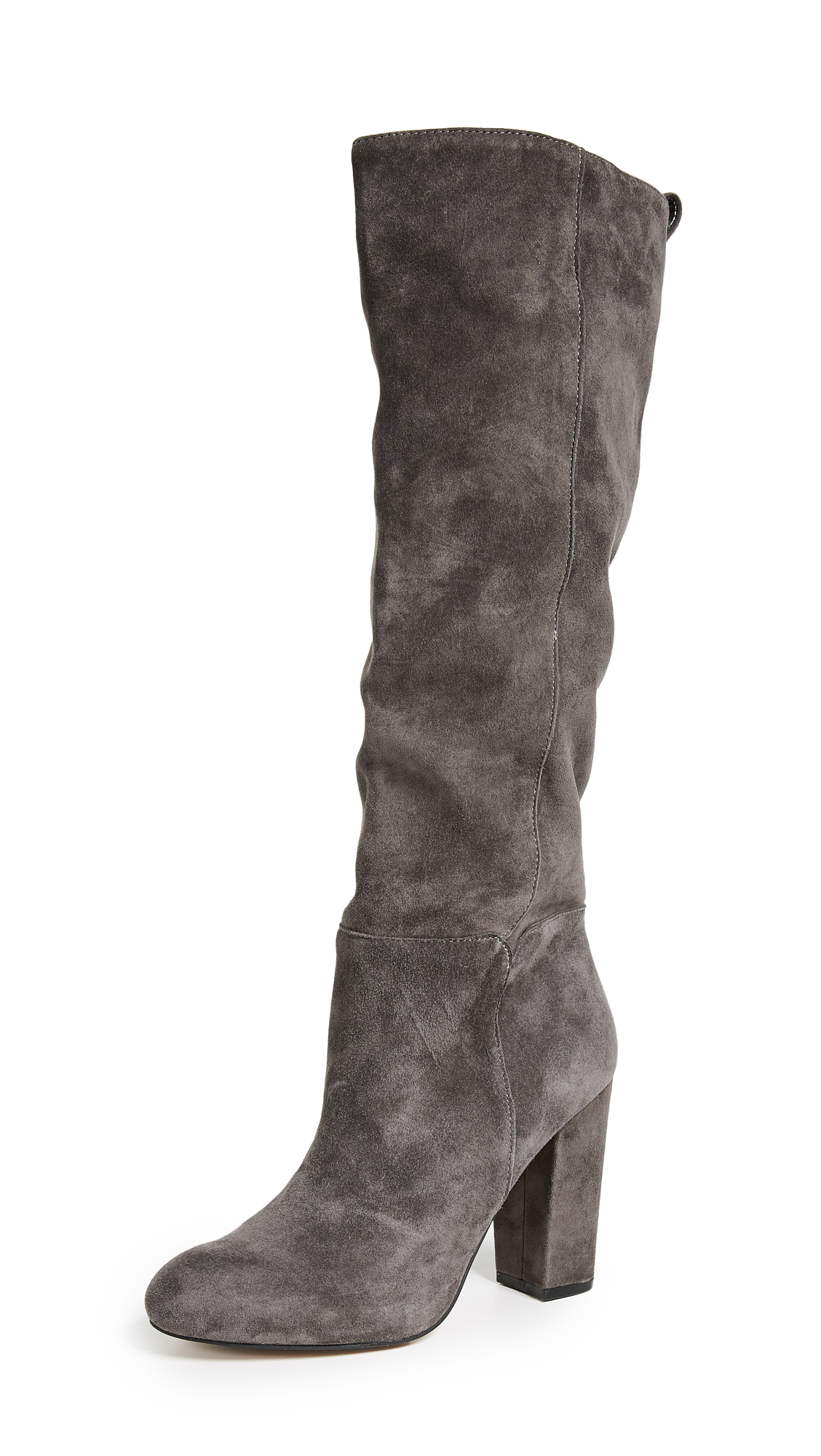 Steven Tila to the Knee Boots - Grey