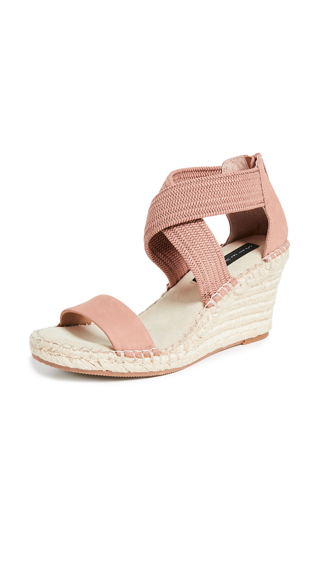 Steven Excited Wedge Espadrilles - Blush