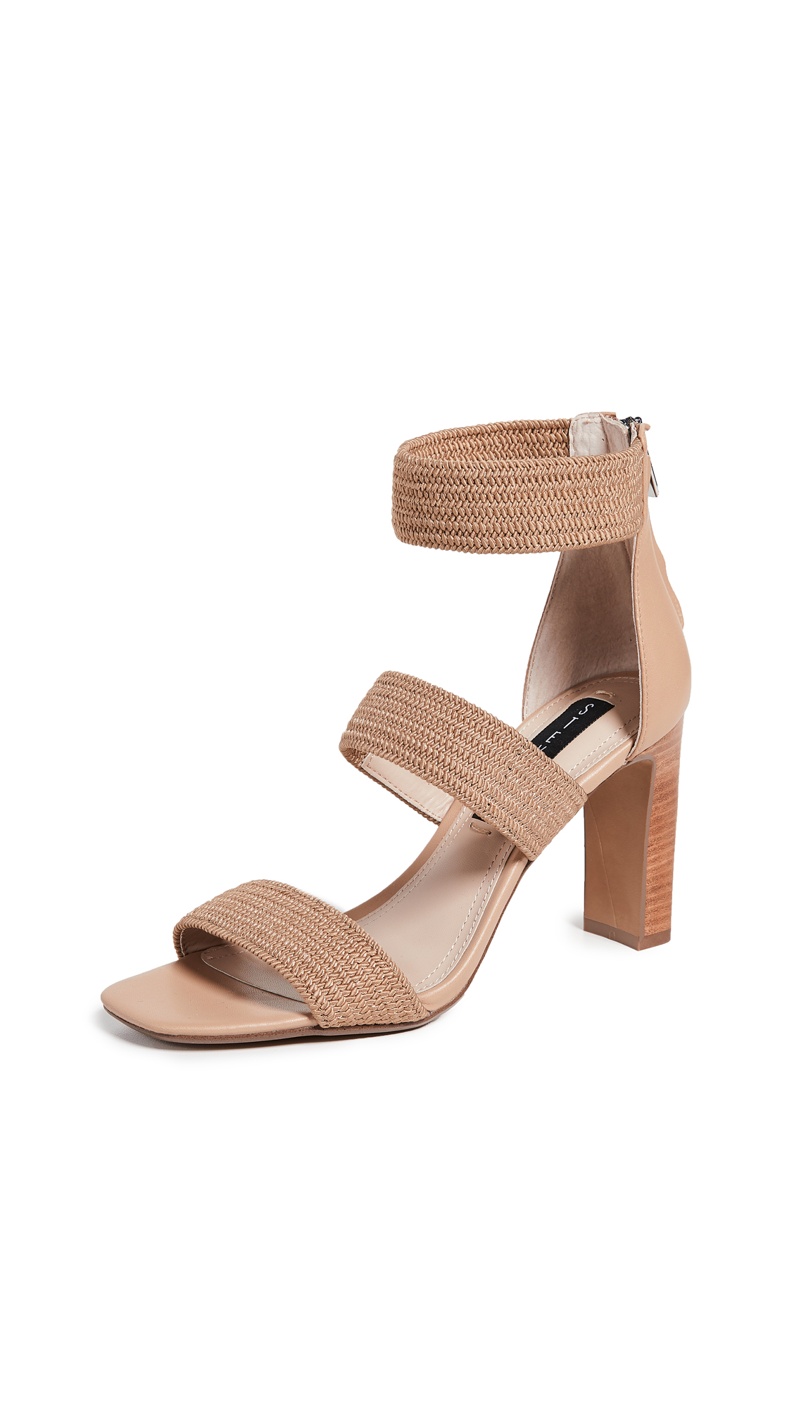 Steven Jelly Strappy Sandals - Natural