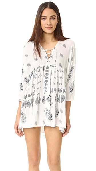 Suboo Drifter Laced Caftan In White