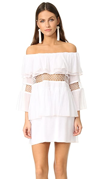 Suboo Closer Frill Off Shoulder Cover Up Dress