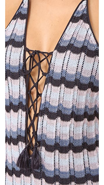Suboo Knit Lace Up One Piece