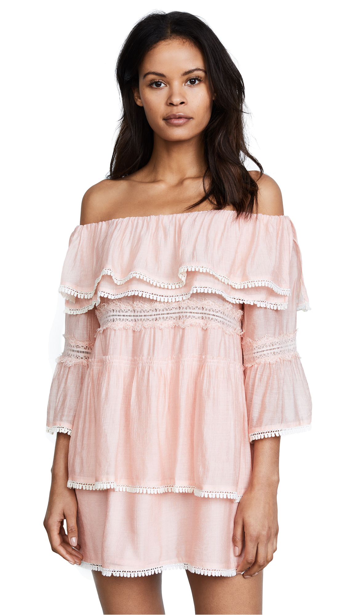 Suboo Roam Free Off Shoulder Dress - Rose