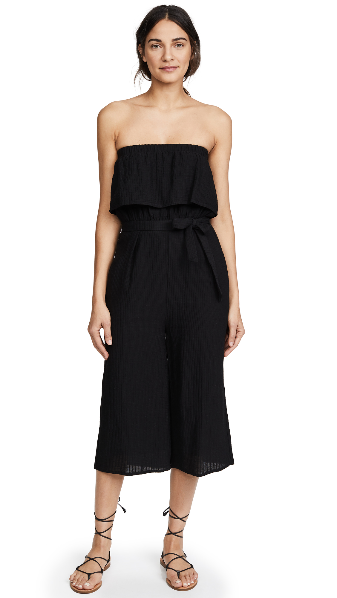 Suboo De Coup Strapless Jumpsuit In Black