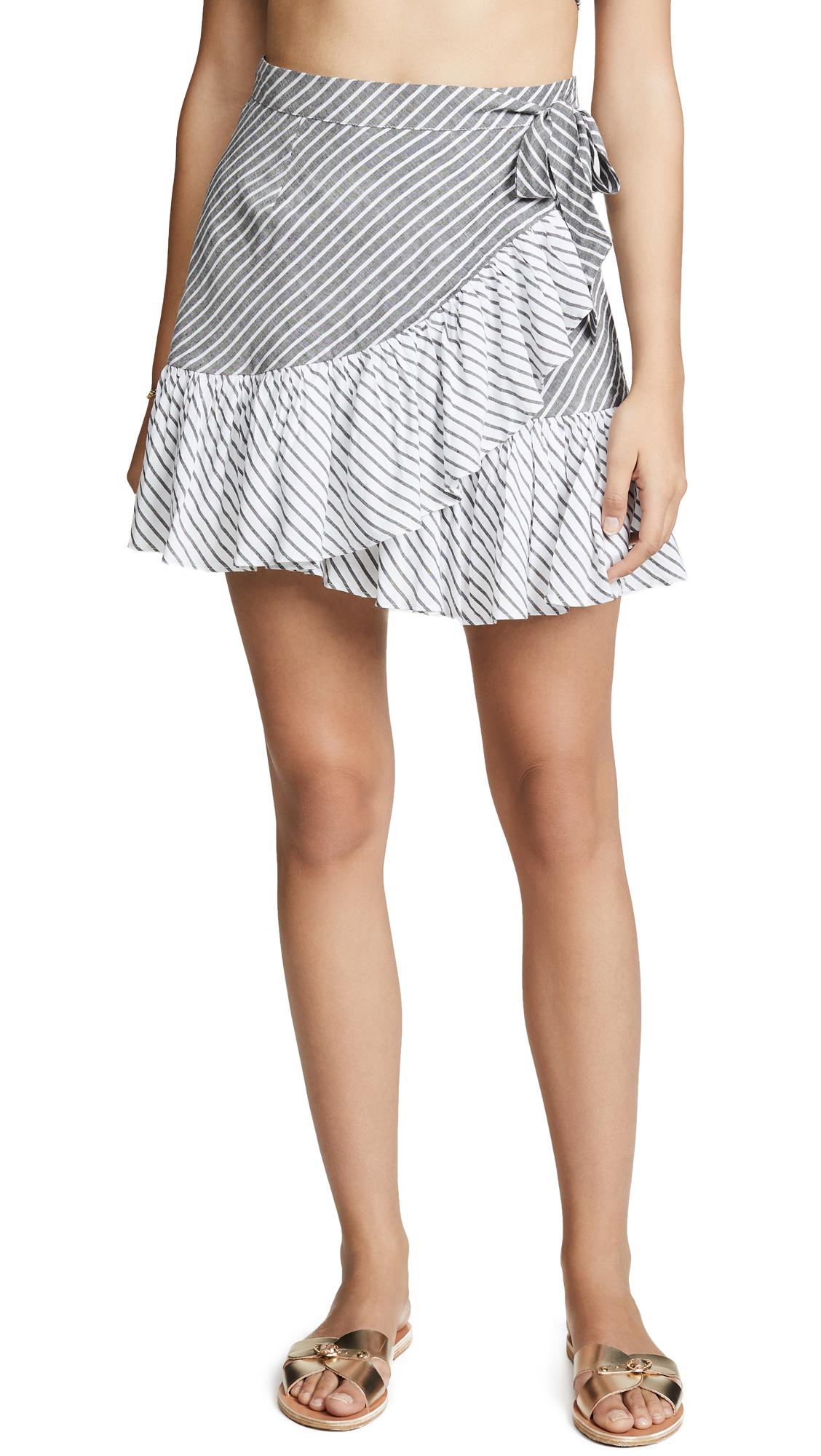 Suboo Ziggy Frill Mini Skirt In Stripe