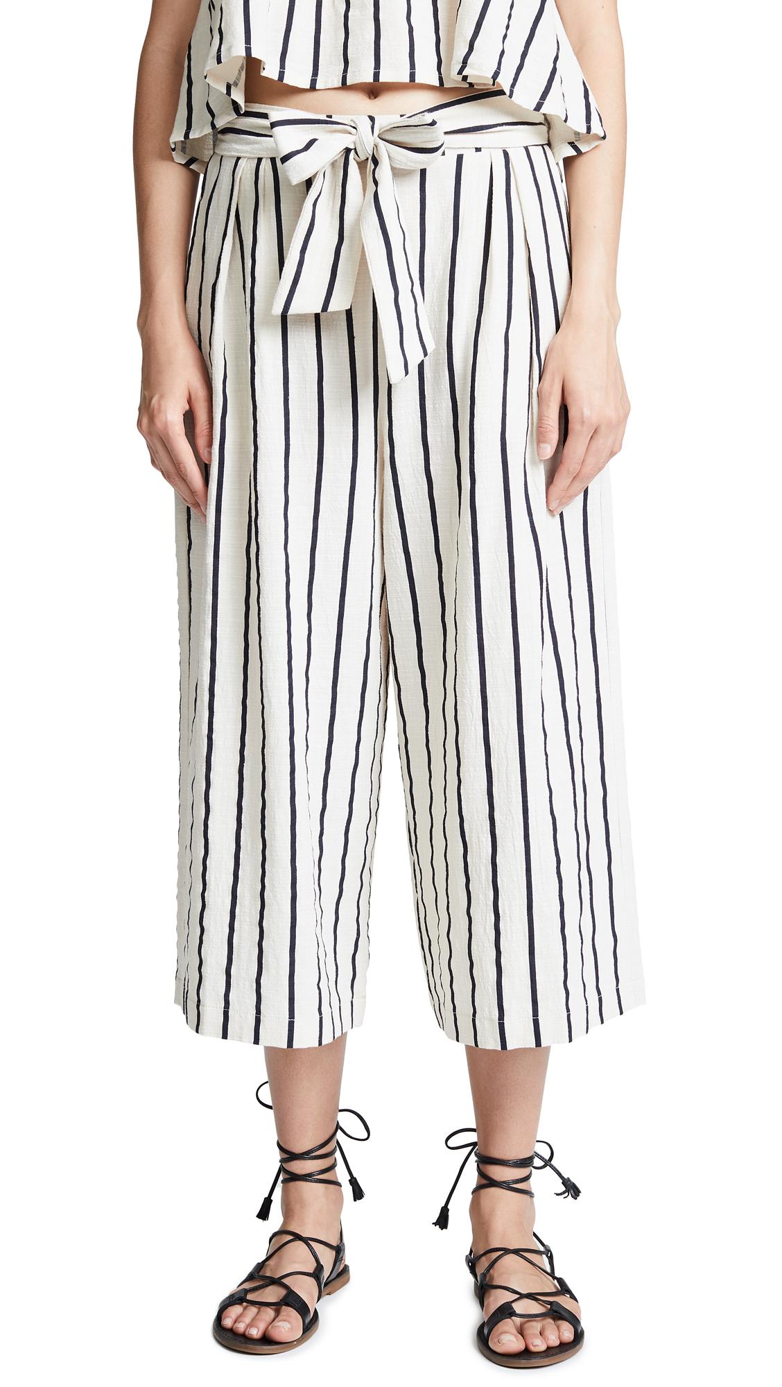Suboo Stay Wide Leg Tie Pants In Stripes