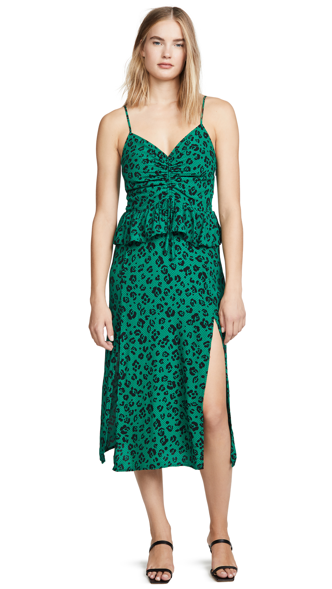 Buy Suboo online - photo of Suboo Leopard Lights Gathered Split Dress