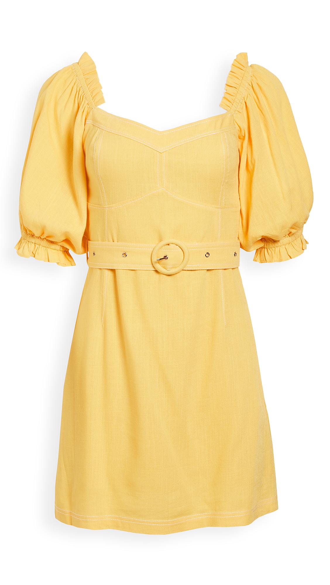 Suboo Ines Linen Balloon Sleeve Mini Dress