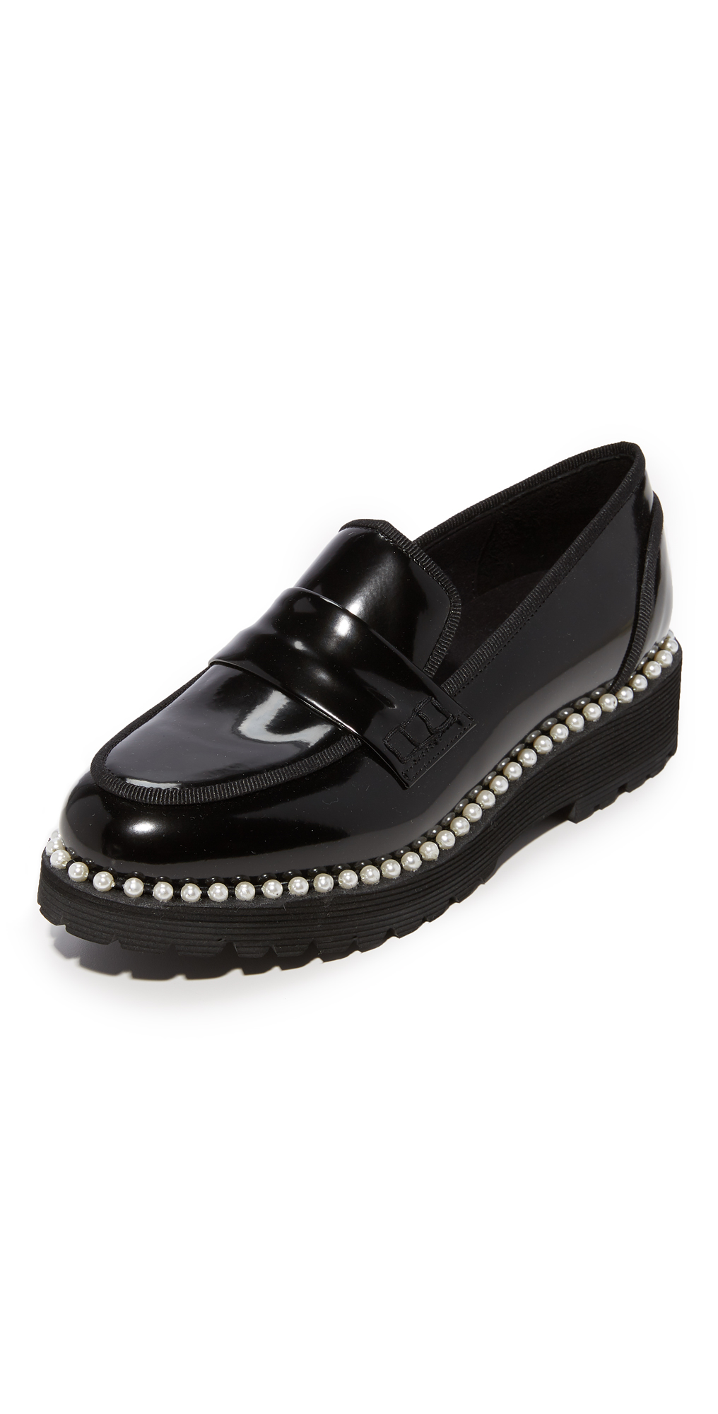 Faux Pearl Detailed Loafers Suecomma Bonnie