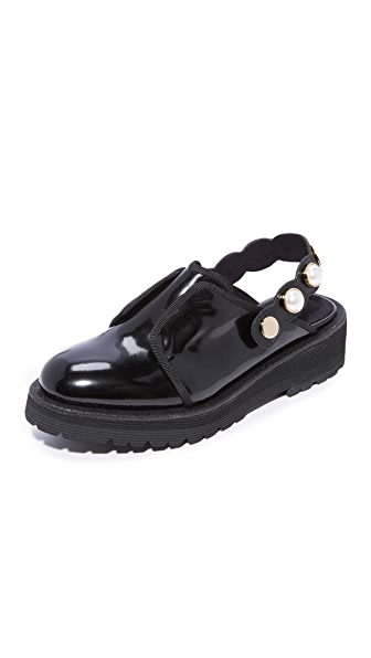 Suecomma Bonnie Jewel Strap Detailed Loafers - Black