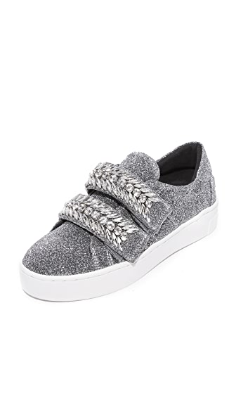 Suecomma Bonnie Glitter Jewel Ornament Sneakers - Silver