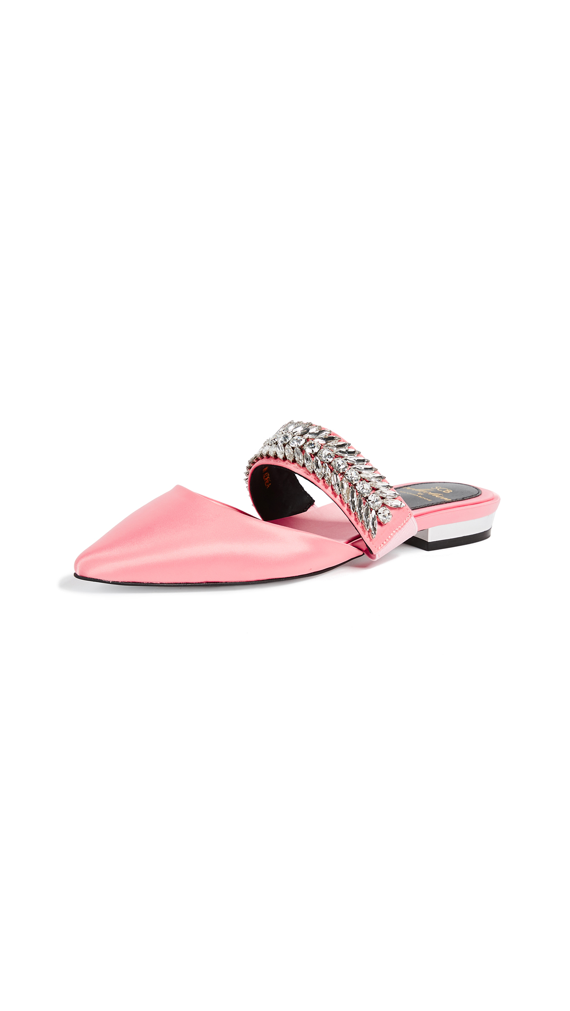 Suecomma Bonnie Embellished Strap Mules - Pink