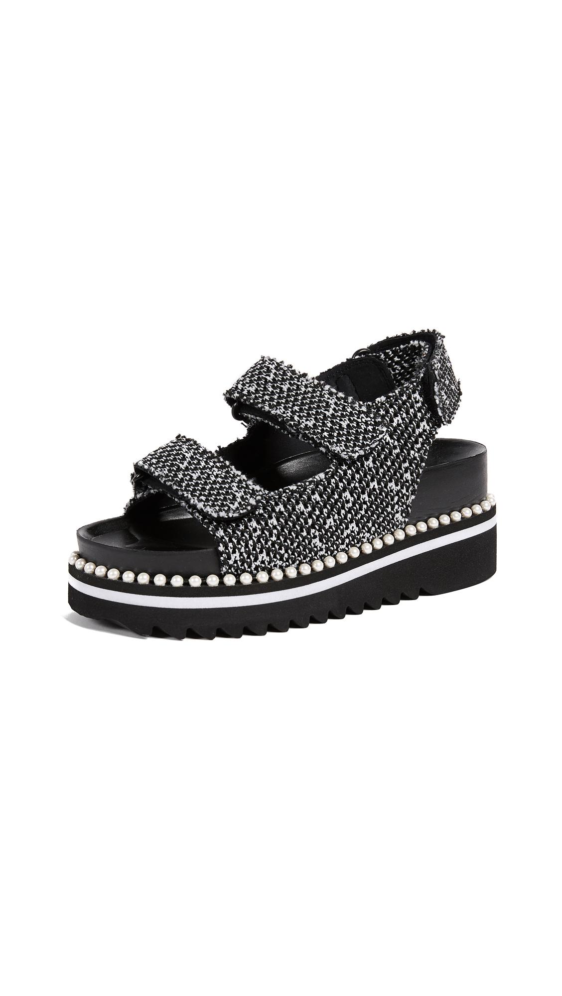 Suecomma Bonnie Back Strap Platform Sandals - Black/Multi