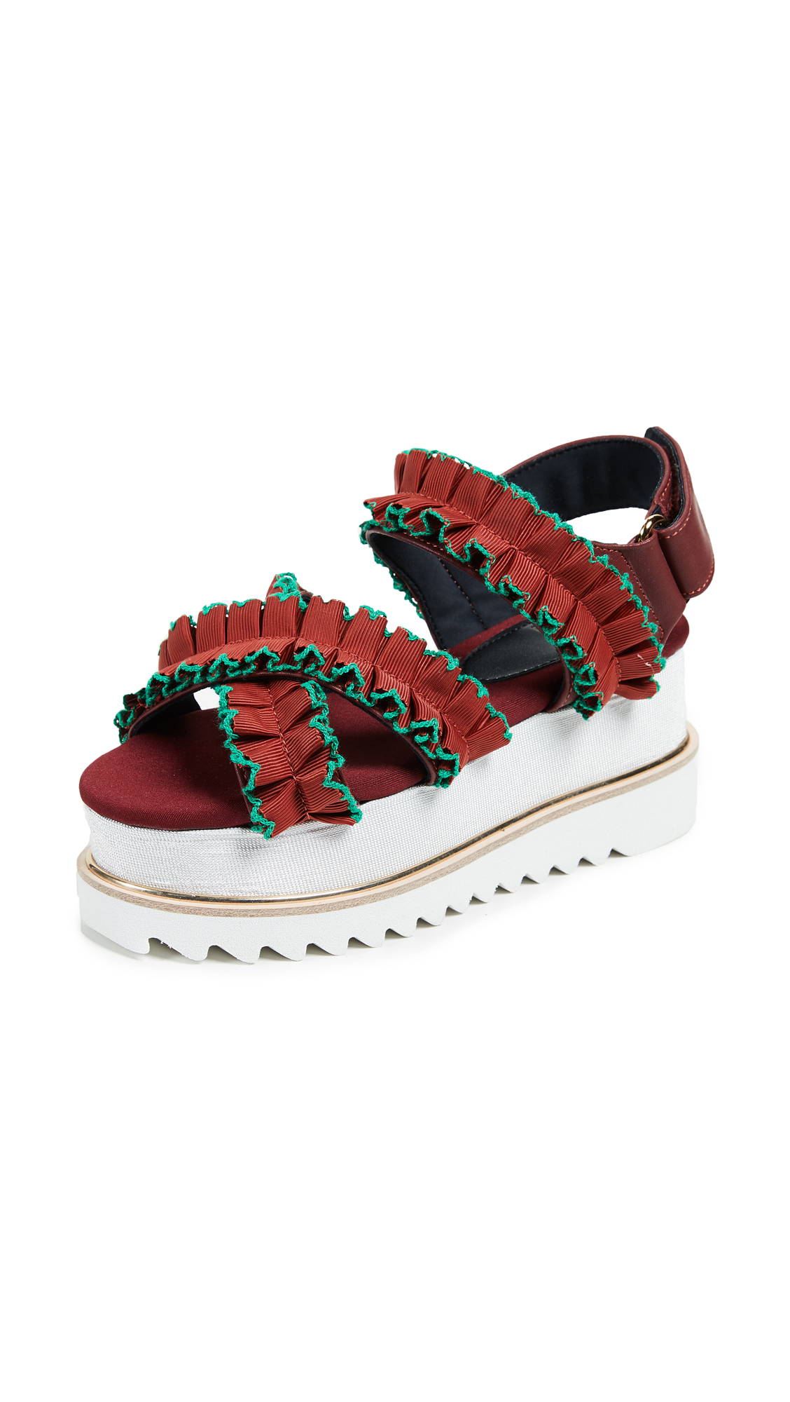 Suecomma Bonnie Ruffle Detailed Platform Sandals - Oren