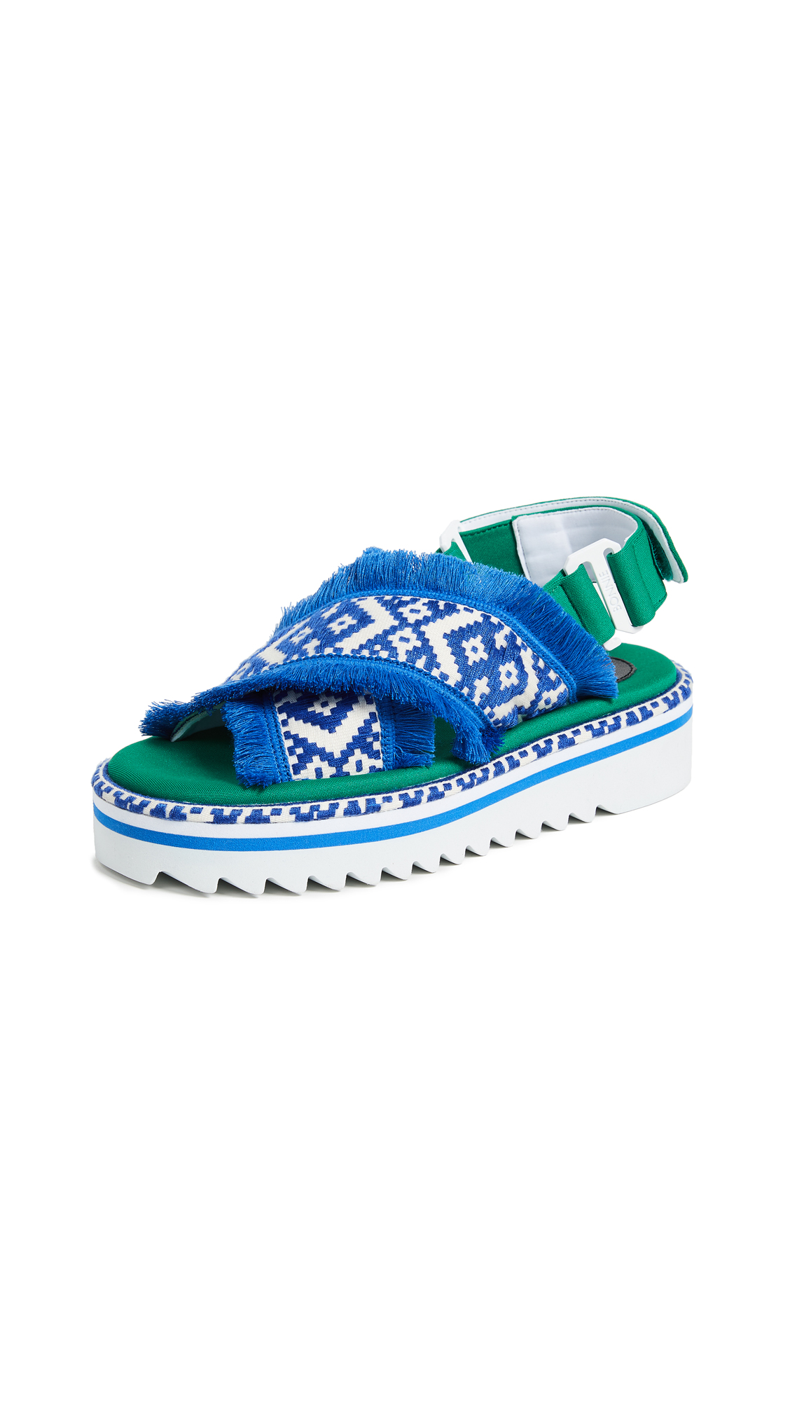 Suecomma Bonnie Ethnic Platform Sandals - Blue